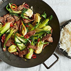 One-Dish Dinners: Beef-and-Bok-Choy Stir-Fry #recipe
