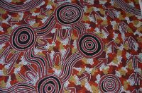 Non-naturalistic art style. Traditional Central Australian art. Photo: David M. Welch.