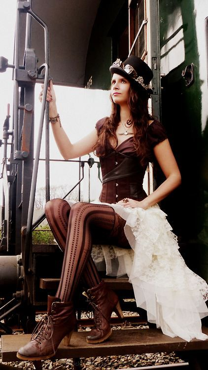 ..I love the corset & the boots!