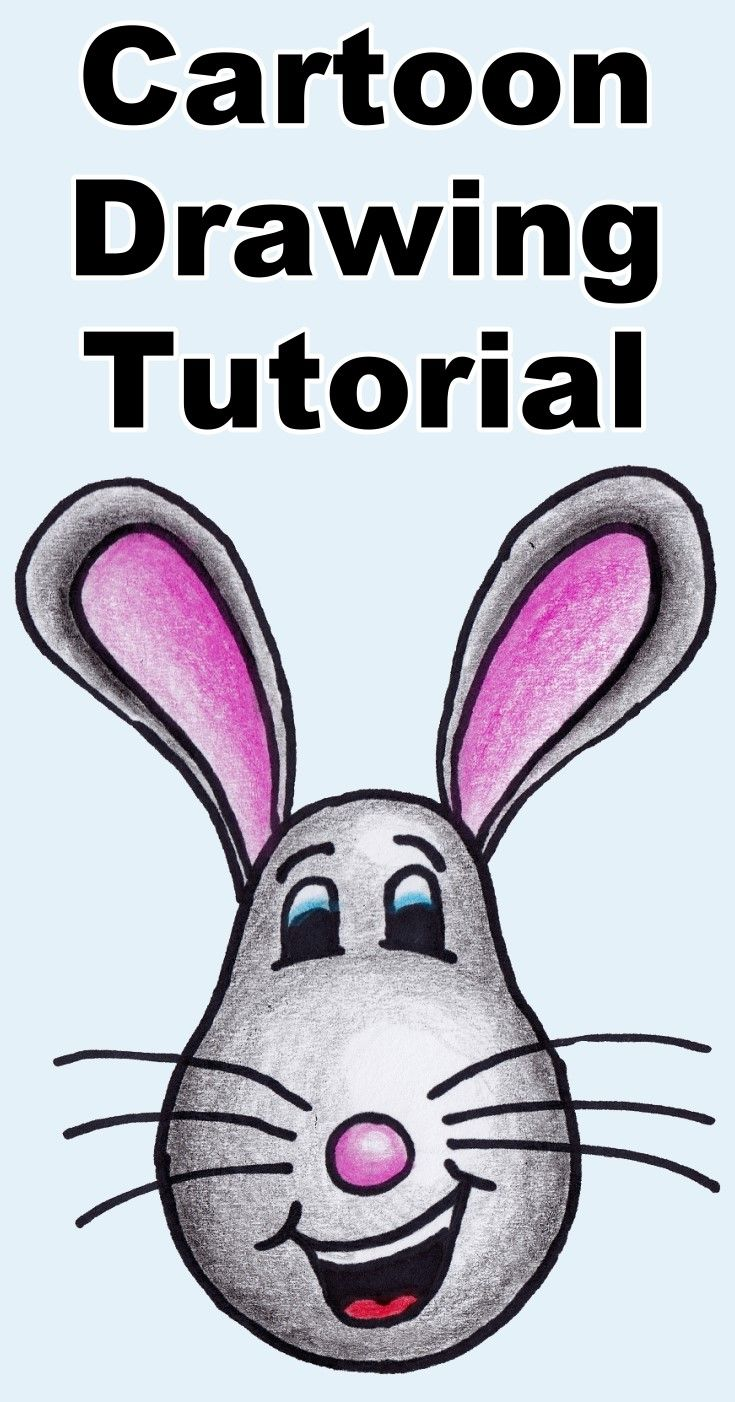 Follow along as I show you how to draw and color this cute cartoon mouse. Download the free coloring page.