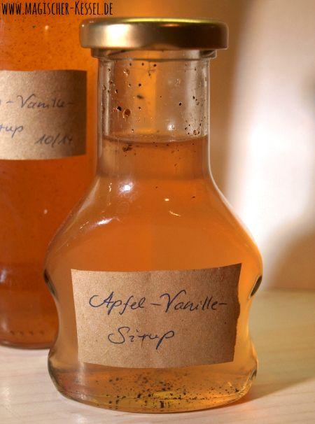 Selbstgekochter Limonadensirup: Apfel-Vanille-Sirup
