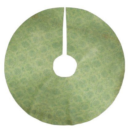 Pretty Vintage Retro Green Damask Pattern Brushed Polyester Tree Skirt - classy gifts vintage diy ideas