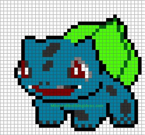 Minecraft Pixel Art Templates: Bulbasuar
