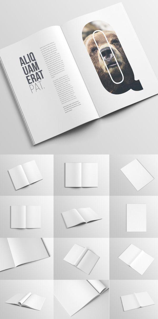 Mockup gratuito de revista A4 - IDEAGRID