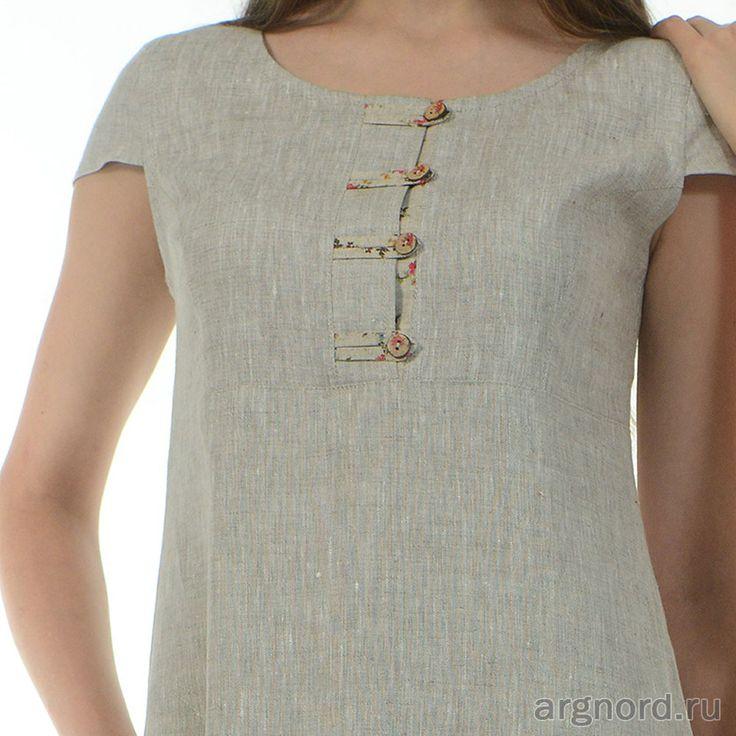 Платье из натурального льна | Артикул: ш614-15 | Платья