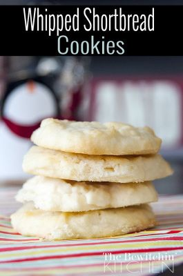 Whipped Shortbread Cookies. This melt-in-your-mouth cookie recipe is great all year round but perfect for the Christmas Holidays.
