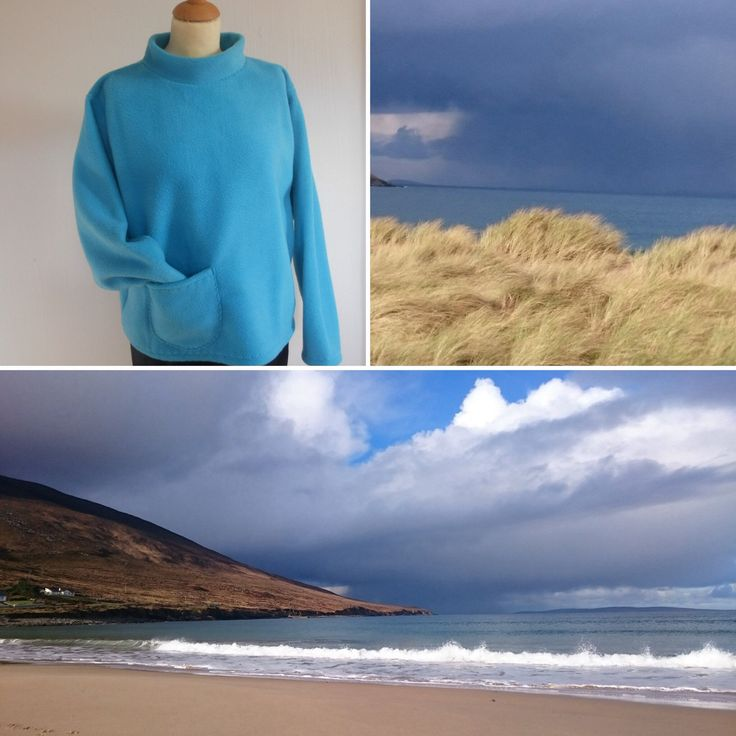 February on Achill Island, Saturday jumper keeping me warm. Fleece pullover, Women's Fleeces of all kinds handmade here on the Island.