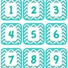I designed these to use for stations but they can definitely be used for other classroom needs, as well. The numbers go from 1-27.  There are also ...