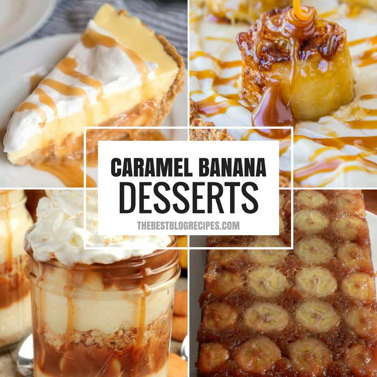 These 18 Recipes that prove that CARAMEL and BANANAS were meant to go together, and they are just what you need right now to take care of your sweet tooth.