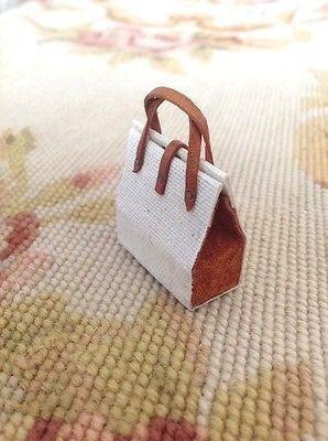 Luggage Designer Purse Bag Valise Satchel 1:12 Dollhouse Miniature