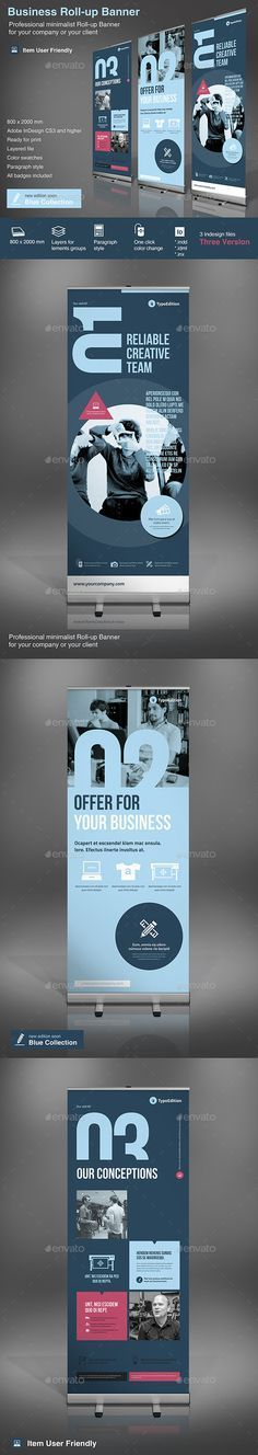 Expand your design/business with these roll-up banners!