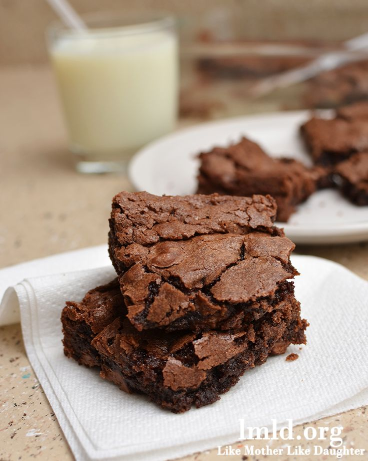 The best brownies in the world.   1 cup sugar  1/2 cup flour  1/3 cup cocoa powder  1/2 tsp salt  1/4 tsp baking powder  1/2 cup milk chocolate chips  2 eggs  1 tsp vanilla  1/2 cup canola oil