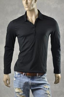 Mens Armani Exchange A/X Brand Shirts Long Sleeve Slub Polo Shirt