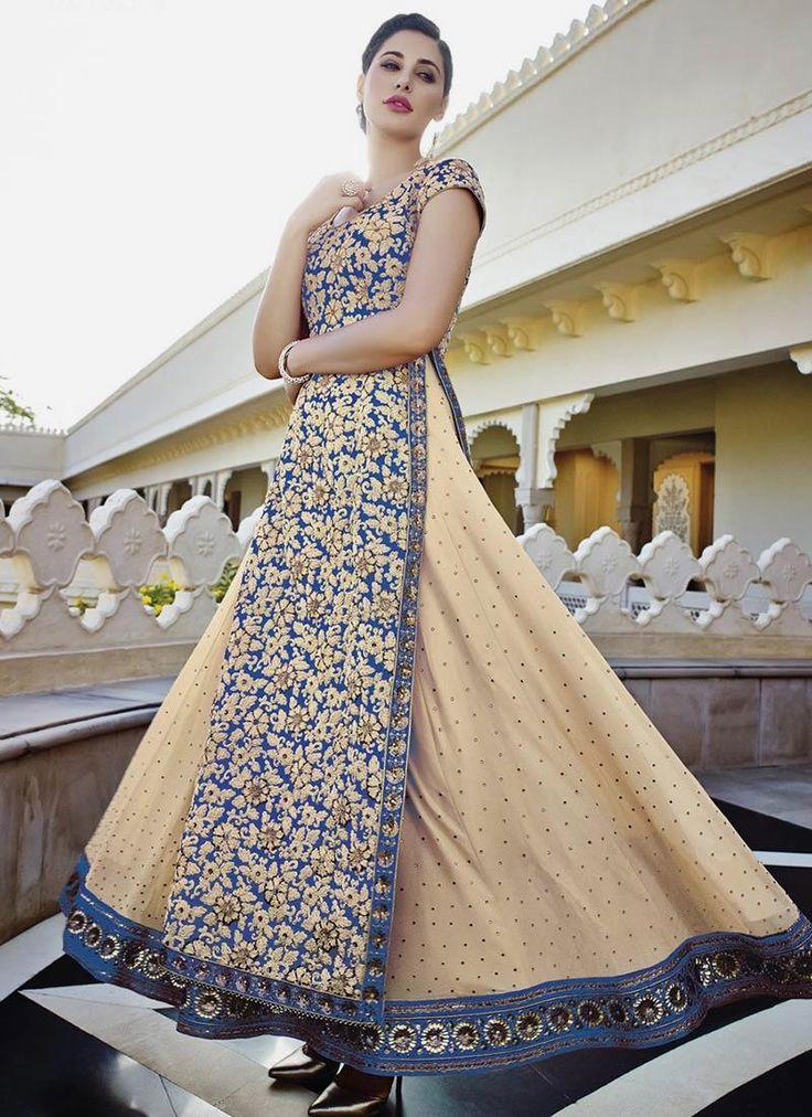 Buy salwar suits, salwar kameez and designer salwar suits online. Order this mesmerizing embroidered and resham work anarkali salwar kameez for ceremonial and wedding.