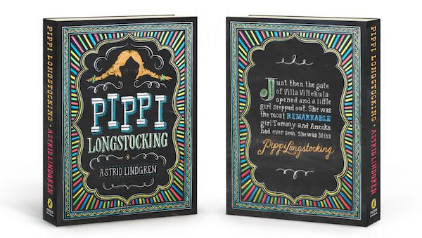 Beautiful, Typographic Puffin Books Covers, Created By Hand On A Chalkboard - DesignTAXI.com