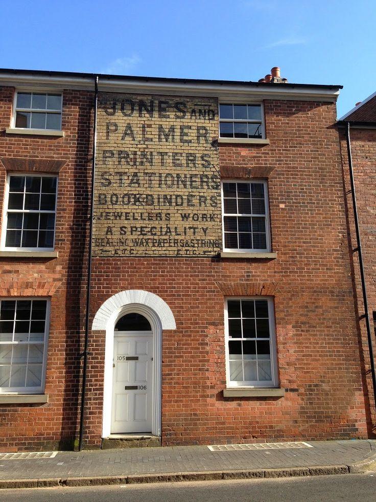 Urban Wandering - ghost sign in the Jewellery Quarter, Birmingham #psychogeography