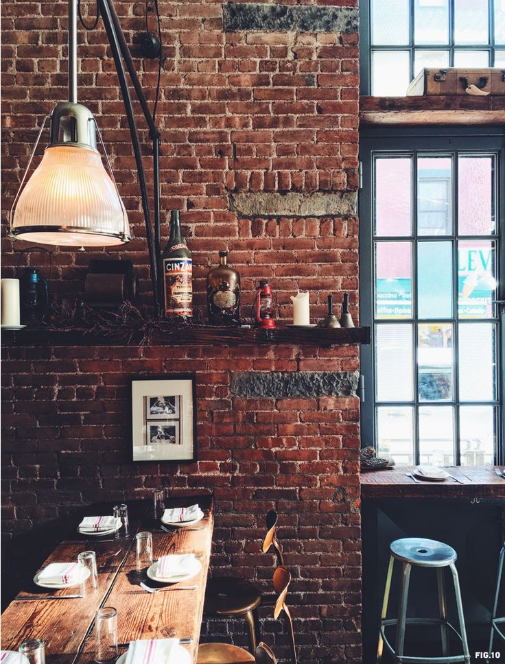 Best 25 industrial restaurant ideas on pinterest for Brick garden room designs