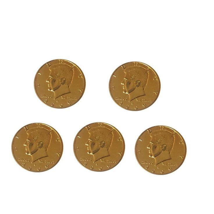 5pcs/lot Half Dollar Coin Magic Tricks (Silver or Glod color) magic coin Accessories Gimmick Magic Tricks Props Toys #Affiliate