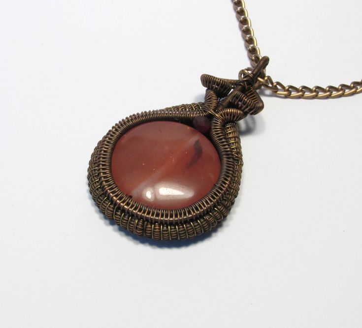 #round #droplet #cherry #quartz #handmade #wire #twisted #wired #wrapped #wrapping #wirewrapped #wirewrappin #copper #handmade #unique #large #metal #solid #pendant #pendent #necklace #colier #pendentif #neckless #etsy #gift #present #gifts #her #him #unique #freaqy