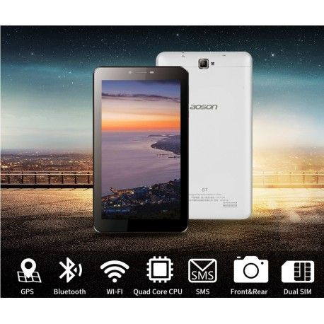 Aoson S7 WCDMA 3G Phablet  1024 * 600 QUAD CORE Téléphone Tablet PC Android 5.1 1 Go+8 Go Bluetooth GPS  5MP Dual SIM Cards Garantie un an frais de port offert