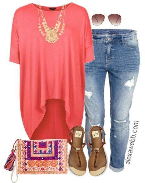 2a07c7d7922 Plus Size Outfit Idea - Plus Size Jeans - Plus Size Fashion for Women -  alexawebb.com  alexawebb
