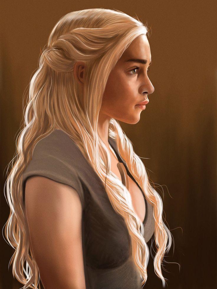 My iPad painting of Daenerys   Flickr - Photo Sharing!
