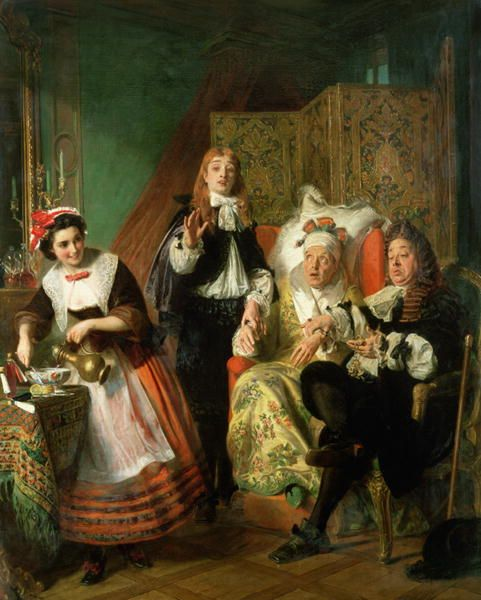 Le Malade Imaginaire 1861 painting
