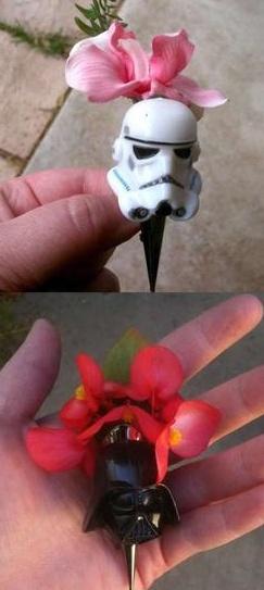 star wars wedding button hole pins