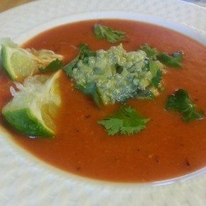 Roasted Red Pepper Soup with Quinoa Salsa... So EASY and flavorful ...