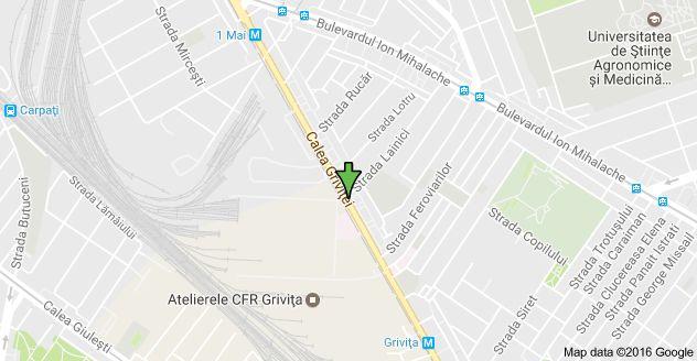 Harta pentru Calea Griviței 226, București 012244