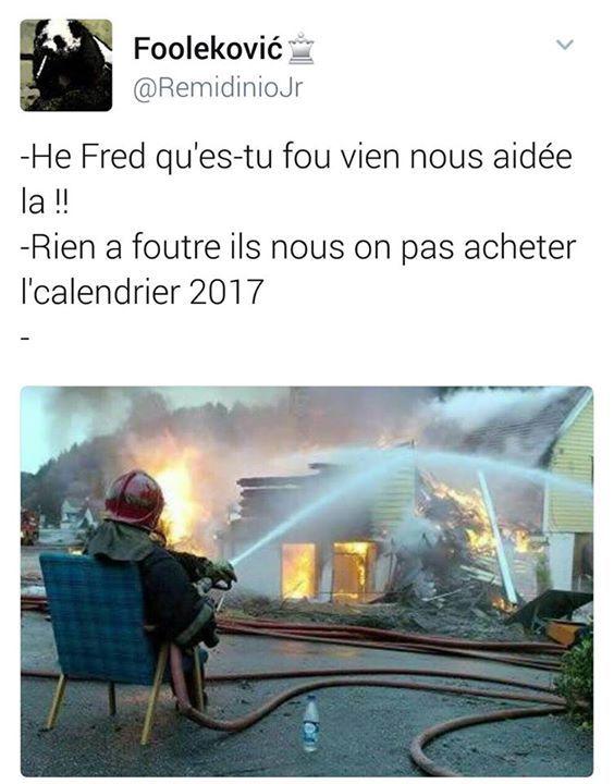 Toujours acheter le calendrier des pompiers
