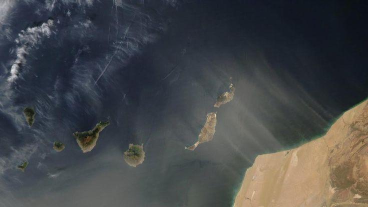 Imágenes de clima en Canarias desde el espacio.