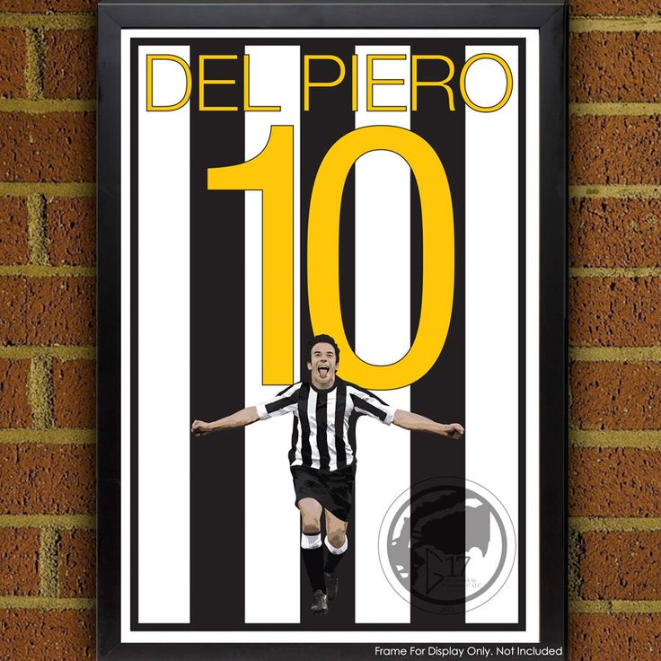 Juventus Legend Alessandro Del Piero 10 Poster - Juventus Soccer Poster-  poster, art, wall decor, home decor, world cup winner by Graphics17 on Etsy