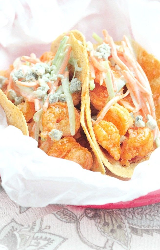 The quickest, easiest and tastiest Buffalo Shrimp Tacos! Your new taco night adventure begins here!