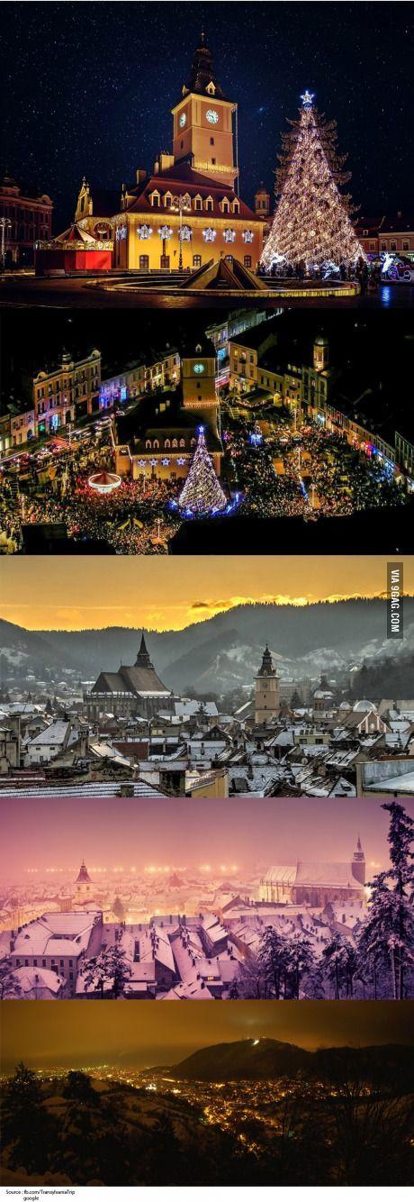 Winter in Brasov, Transilvania