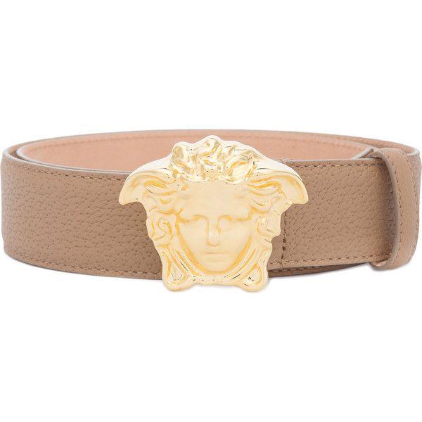 Versace Medusa Palazzo belt ($525) ❤ liked on Polyvore featuring men's fashion, men's accessories, men's belts, brown, versace mens belt, mens brown belt and mens adjustable belt