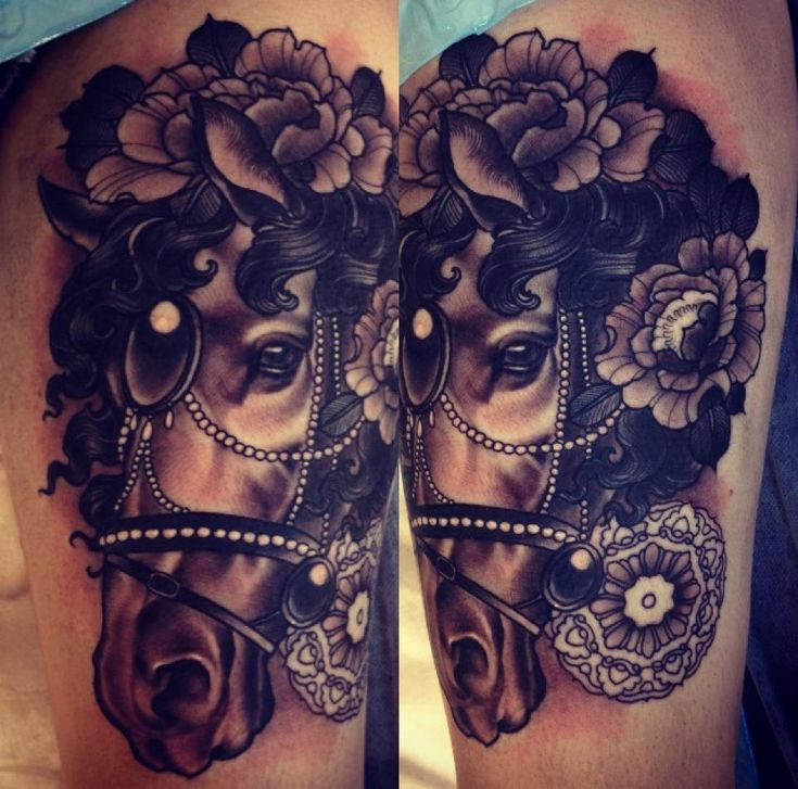 Emily Rose Murray carousel horse tattoo