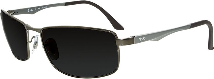 Ray-Ban Women'S Gradient  Rb3498-029/T5-61 Brown Rectangle Sunglasses