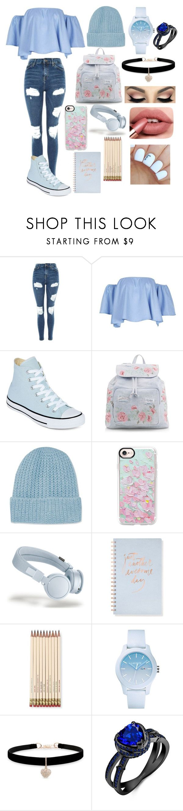 """Wozza"" by aesthetic-fashion on Polyvore featuring Topshop, Converse, New Look, Casetify, Fringe, Kate Spade, Lacoste and Betsey Johnson"