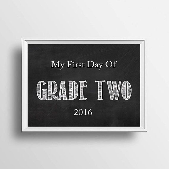 Grade Two Back To School Chalkboard Style by LittleLovesPrintShop