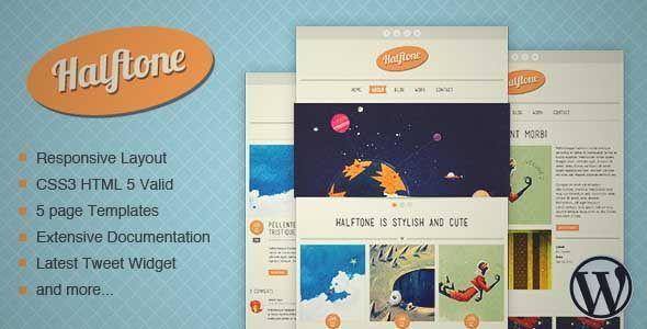 Download and review of Halftone - WordPress Theme, one of the best Themeforest Creatives themes {Download & review at|Review and download at} {|-> }http://best-wordpress-theme.net/halftone-download-review/