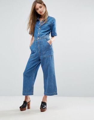 M.i.h Jeans - Combinaison en jean courte avec jambes coupe large