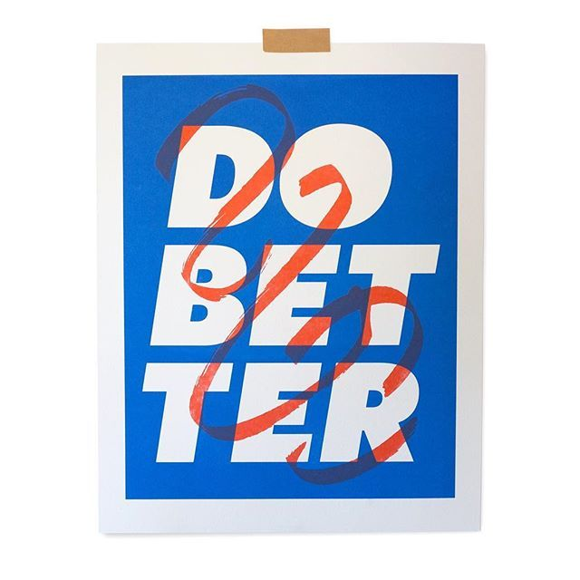 Do Better print with proceeds going to SPLC http://dobetter.shop