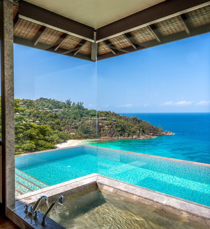 bath time 39 s always better with a beautiful view pictured four seasons resort seychelles. Black Bedroom Furniture Sets. Home Design Ideas