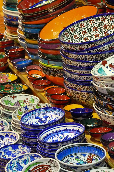 Beautiful Hand Decorated Bowls From The Grand Turkish Bazaar