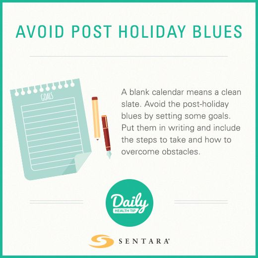 Halt post holiday blues.