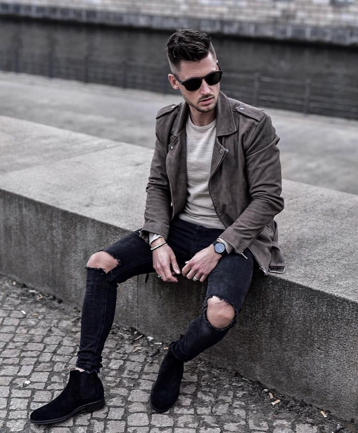 "2,126 Likes, 154 Comments - André | Bln->Venice->LDN->NY (@tommeezjerry) on Instagram: ""NEW LOOK with @aboutyoude and one of my favorite pieces for spring - a GREY SUEDE JACKET // Check…"""