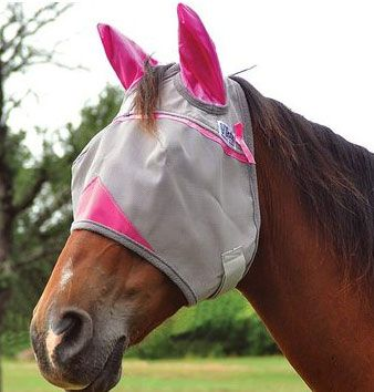 Cashel Crusader Breast Cancer Pink Fly Mask - With Ears