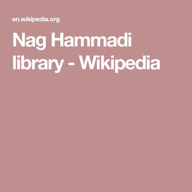 Nag Hammadi library - Wikipedia