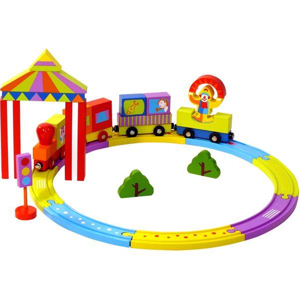 Конструктор деревянный «Цирковой поезд»